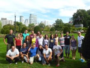 Italiani a Boston ai Public Garden