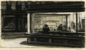 original-sketch-edward-hopper-nighthawks